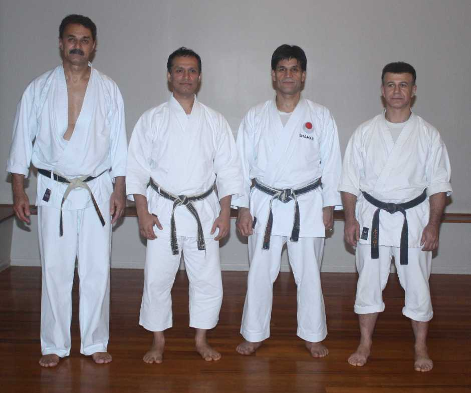 Sensei Frank with Sensei Majid, Sensei Shahab and Sensei Arash